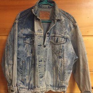 [Vintage Levi's] acid wash denim jeans jacket L